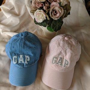 2 GAP Baseball Hats Caps Pink/ Blue